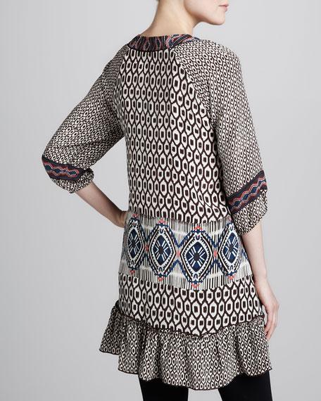 Karina Ikat-Print Long Tunic