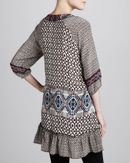Karina Ikat-Print Long Tunic, Women's