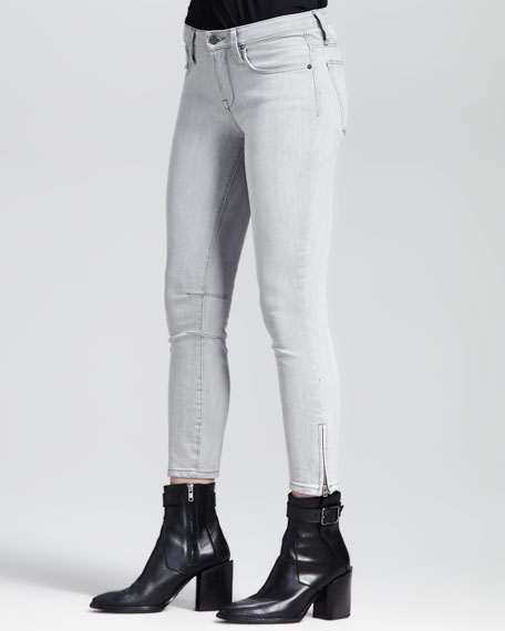 Cropped Stitched Skinny Jeans
