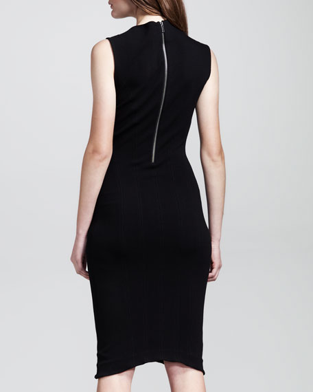 Gala Asymmetric-Neck Dress