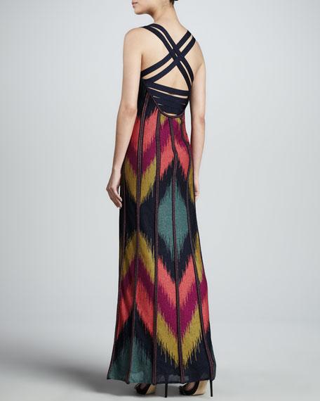 Metallic Ikat Maxi Dress
