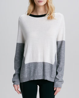 Aiko Catalina Colorblock Slit-Back Top