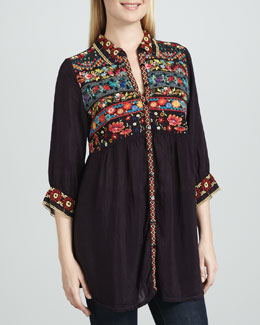 Johnny Was Collection Artisan Embroidered Tunic