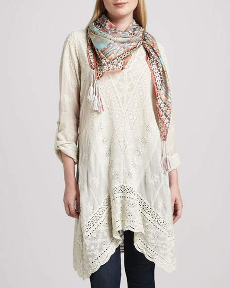 Hannah Embroidered Long Tunic, Women's