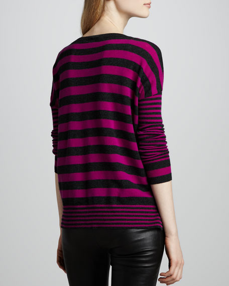 Mixed-Stripe Cashmere Sweater
