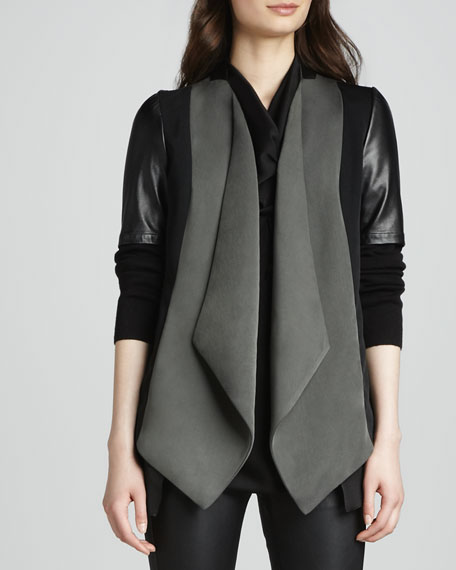 Drape-Front Jacket