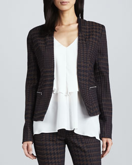Cut25 by Yigal Azrouel Houndstooth Twill Jacket