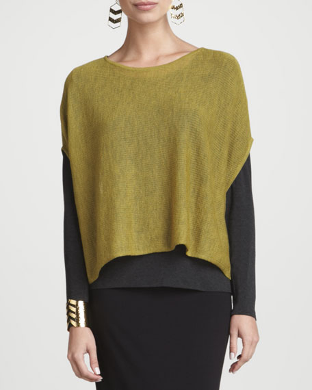 Ethereal Washable-Wool Poncho Top