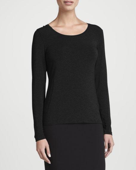 Cozy Long-Sleeve Lean Jersey Top