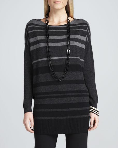 Tonal-Striped Wool Tunic
