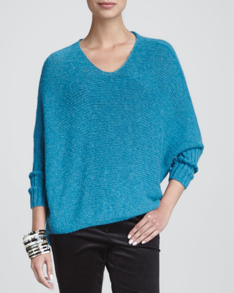 Airy Alpaca Crimp Sweater Top