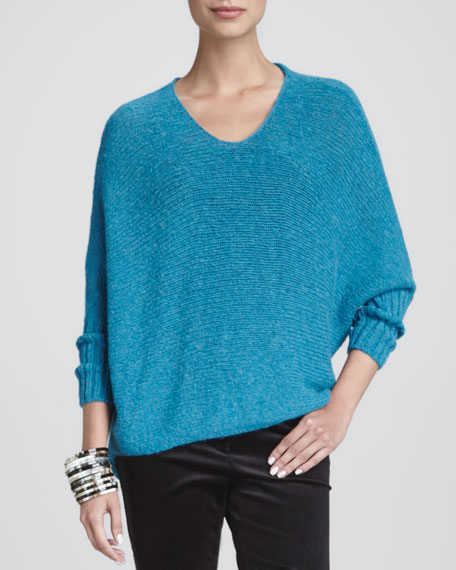 Airy Alpaca Crimp Sweater Top, Women's