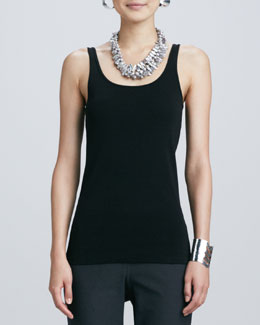 Eileen Fisher Organic Cotton Slim Tank, Women's
