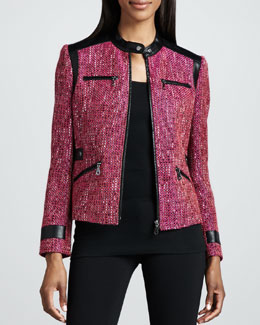Berek Super Diva Tweed-Textured Jacket