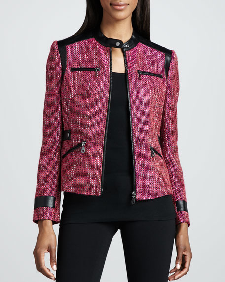 Super Diva Tweed-Textured Jacket, Women's