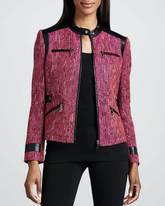 Super Diva Tweed-Textured Jacket, Women's
