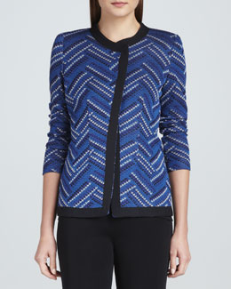 Misook Dani Geometric-Patterned Jacket