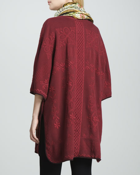 Jwla For Johnny Was Claudine Embroidered Blanket Poncho