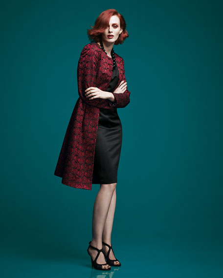Lace Jacket & Sateen Sheath Dress Set