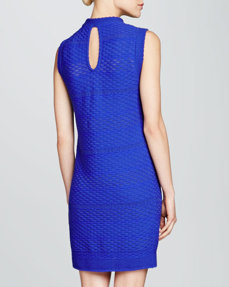 Sleeveless Honeycomb Knit Dress