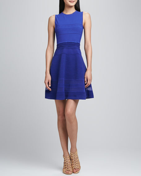 Pique Flare Knit Dress
