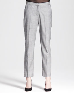Nonoo Glen Plaid Cropped Trousers