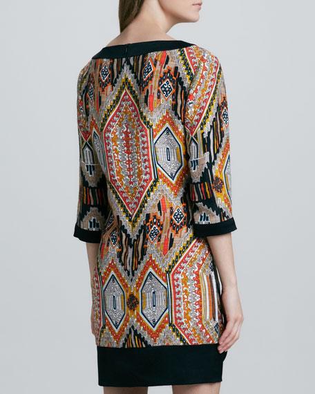 Kurta Tribal-Print Dress