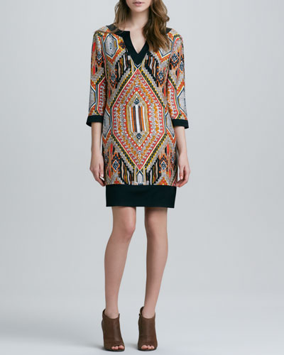 Trina Turk Kurta Tribal Print Dress