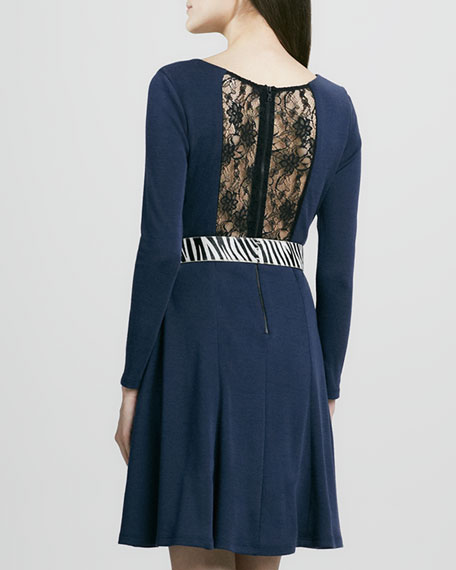 Ricci Lace-Back Flared Dress