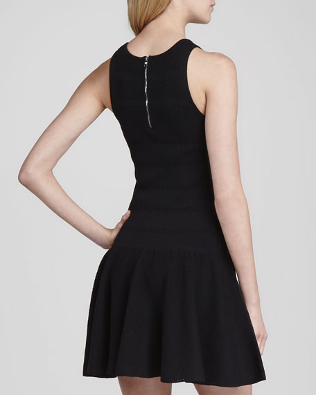 Cecile Drop-Waist Crepe Dress