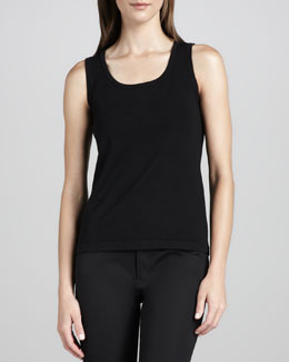 Michael Simon Knit Cotton-Nylon Tank