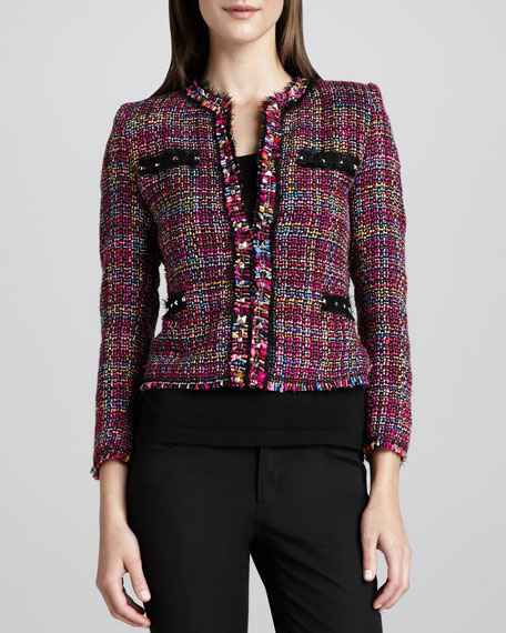 Multicolor Tweed Jacket, Petite