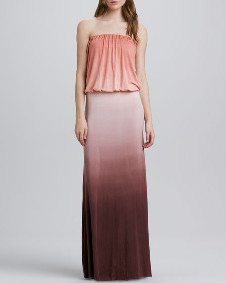Sydney Ombre Strapless Maxi Dress