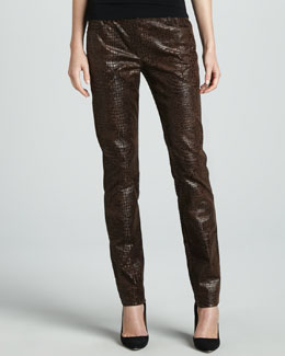Berek Slim Reptile-Embossed Pants