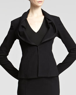 Donna Karan Grosgrain-Trim Jacket