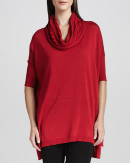 Joan Vass Cowl-Neck Tunic