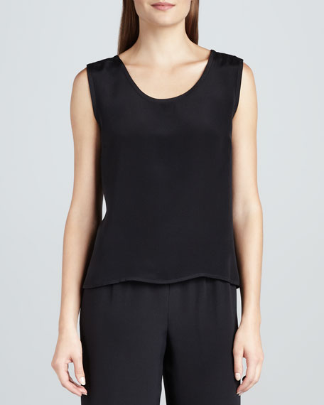 Basic Silk Crepe Tank