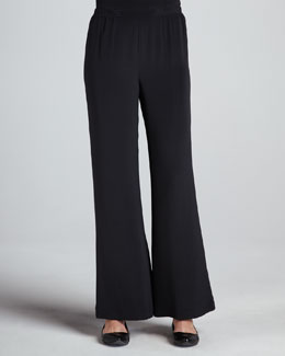Caroline Rose Wide-Leg Crepe Pants, Women's