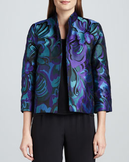 Caroline Rose Emerald City Jacquard Jacket, Women's