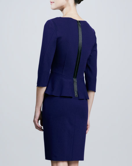 Maura 3/4-Sleeve Peplum Dress