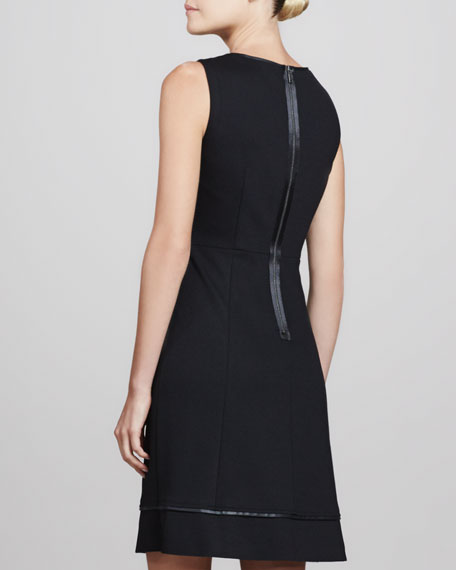 Callie Satin-Trim A-line Dress