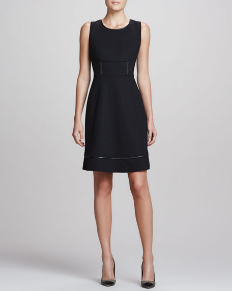 Callie Satin-Trim A-line Dress