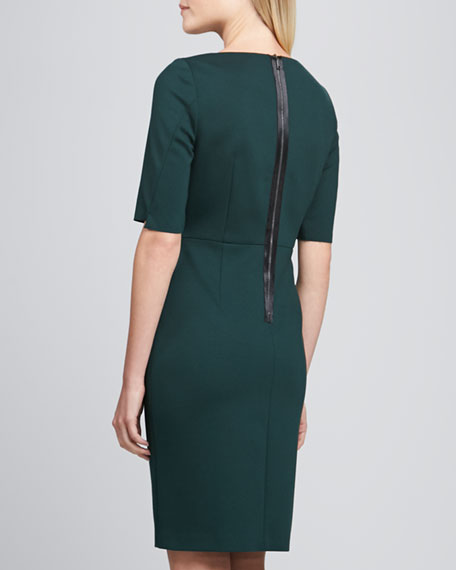 Camellia V-Neck Sheath Dress