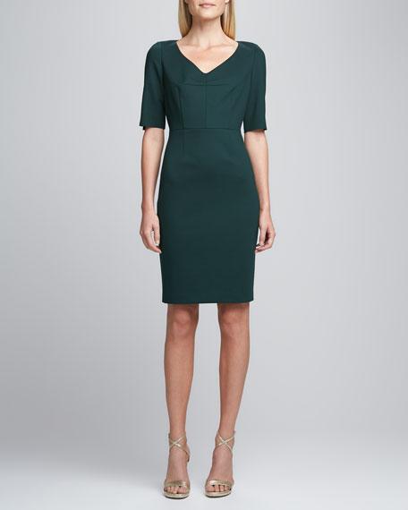 Camellia V-Neck Sheath Dress