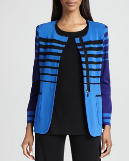 Misook Candy Jacket with Stripes, Women's