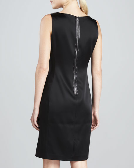 Maureen Satin Sheath Dress