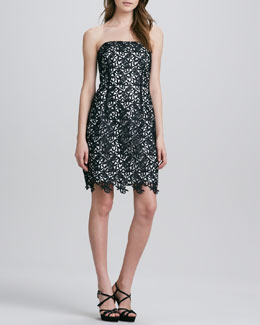 Laundry by Shelli Segal Strapless Lace Dress