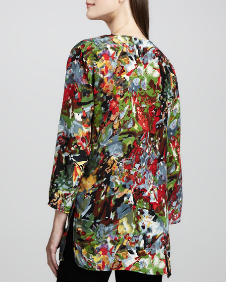 Gloria Red-Print Tunic