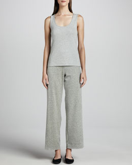 Joan Vass Heather Velour Pants, Petite
