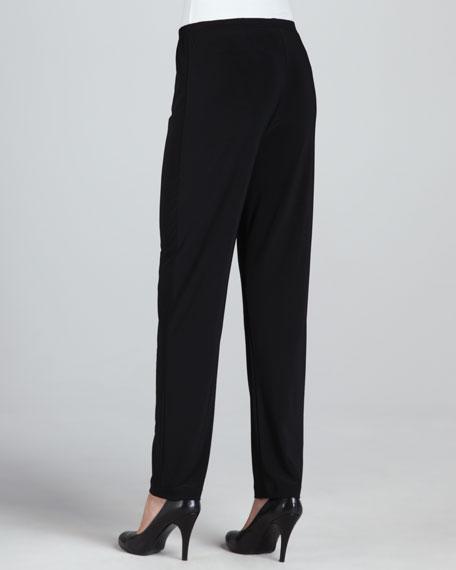 Wide-Leg Silk Crepe Pants